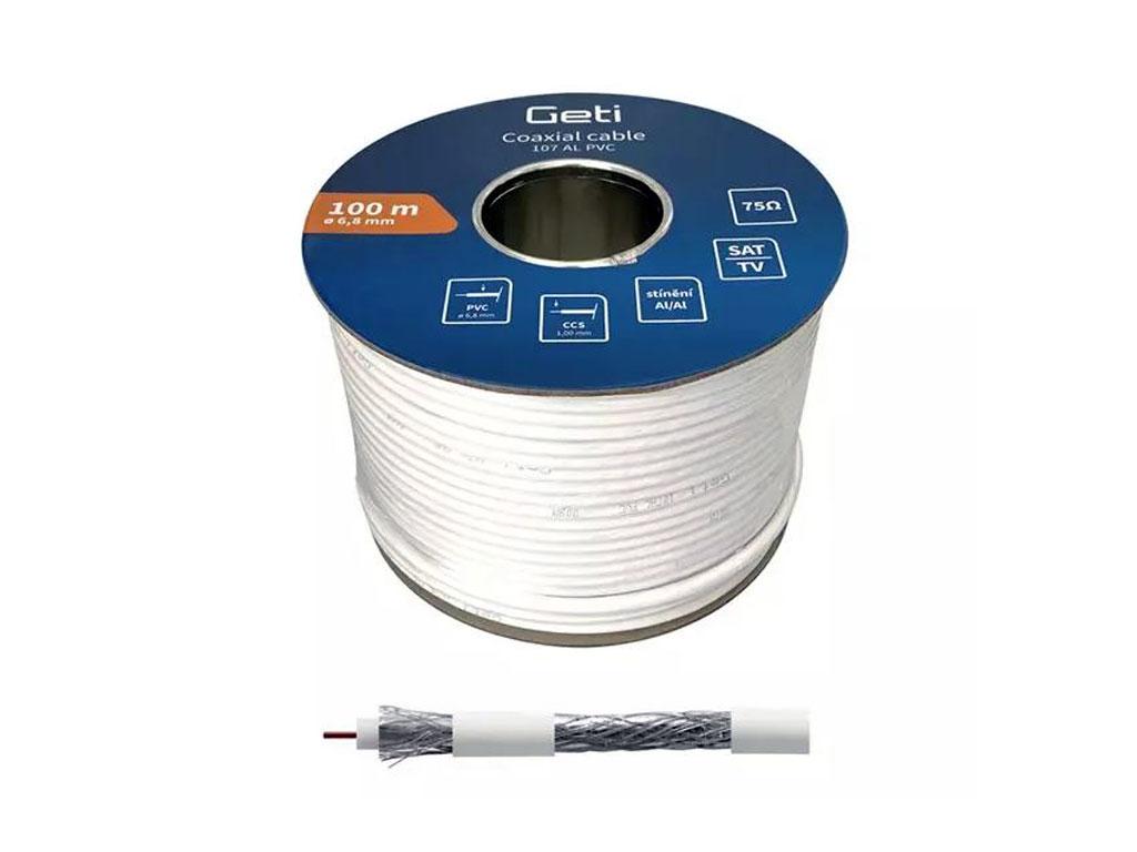 Kabel - klubo 100m KOAX RG6U GOSAT koaxiální kabel 75 Ohm