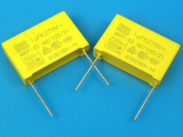 Kondenzátor IMP 1uF/275V AC X2 MKP / 105/250V