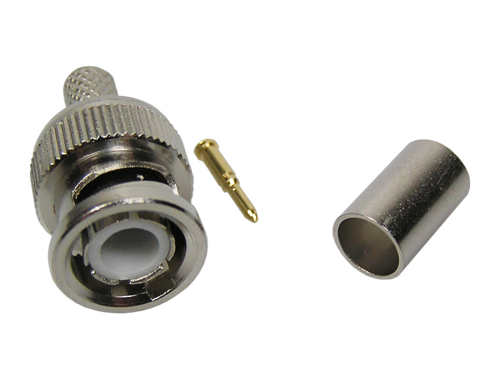 Konektor BNC krimpovací na kabel RG59 6mm
