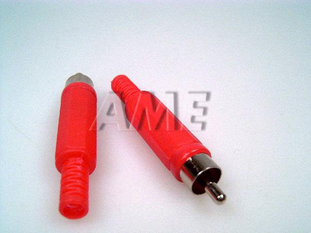 Konektor CINCH plastový - červený