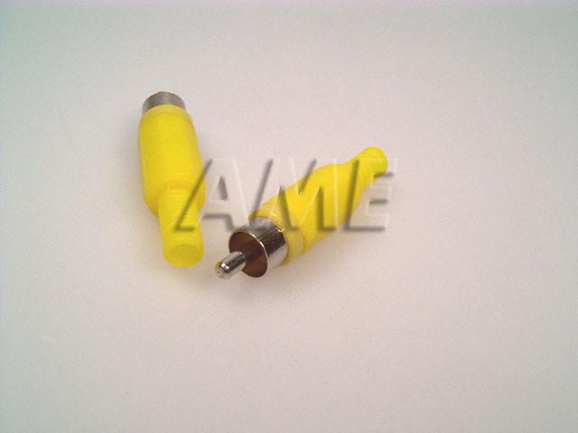 Konektor CINCH plastový - žlutý