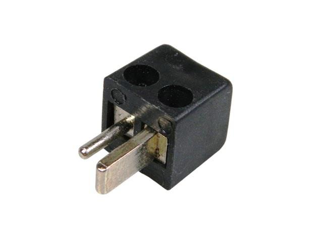 Konektor DIN repro samec černý úhlový