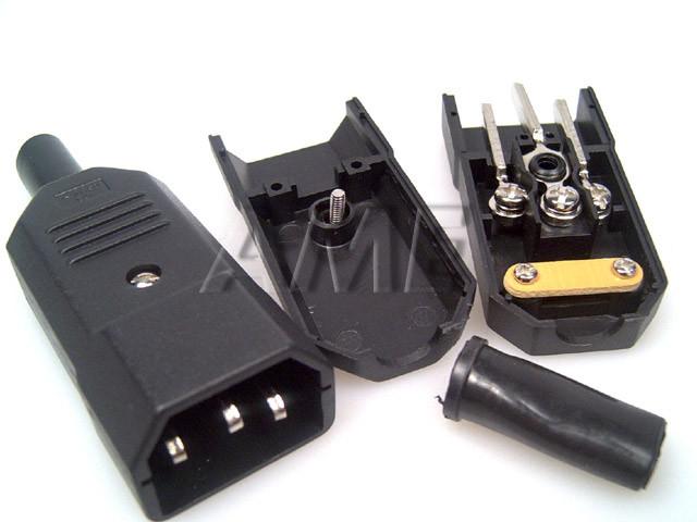 Konektor napájecí pro počítač 230V/M IEC C14 10A