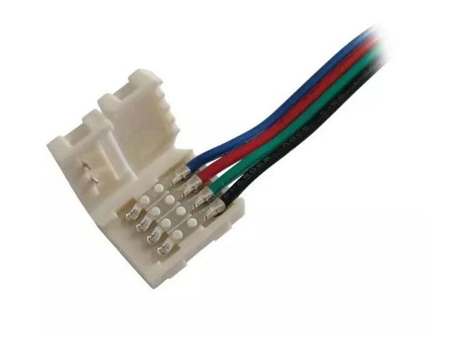 Konektor nepájivý pro RGB LED pásky 5050 pro 30 a 60 LED / m o šířce 10mm s vodičem