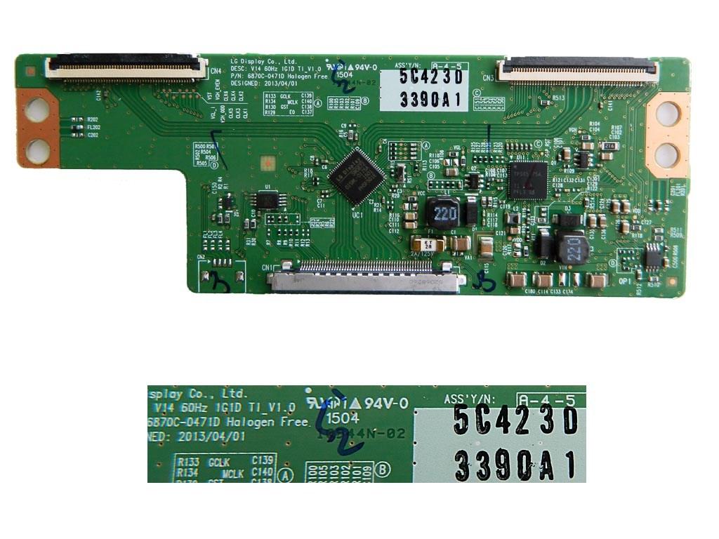 LCD LED modul T-Con 6870C-0471D V14 60HZ 1G1D T1 V1.0 / T Con assy board 6870C0471D 5C423D 3390A1