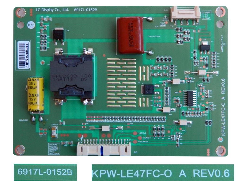LCD LED modul měnič 6917L-0152B / inverter board KPW-LE47FC-O A REV0.6