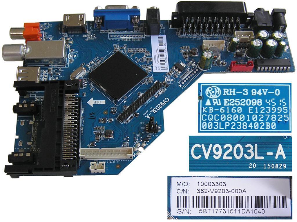 LCD LED modul základní deska HV236WHB-N00 / assy main board TP.S506.PA63 / T201511034A