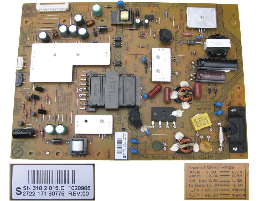 LCD invertor SSB400 12V01 Rev0.3 / INVERTER LJ97-02591A