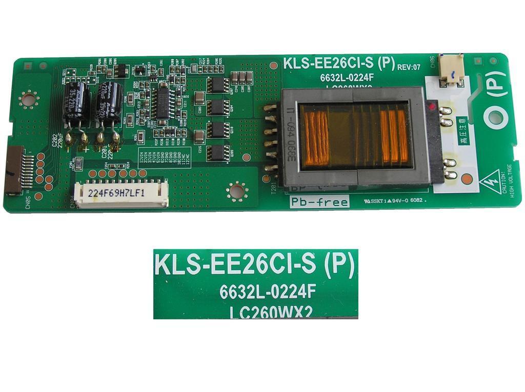 LCD modul invertoru KLS-EE26CI-S / 6632L-0224F / Inverter Board Slave 6632L-0224F / LC260WX2