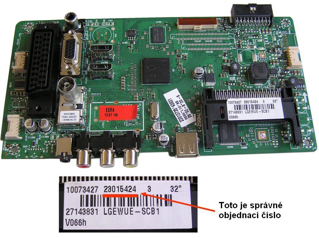 LCD modul základní deska 17MB82 / Main Board 17MB62 23015424, 23119602 / CHS.ASSY.17MB62-F1L1212N1921221112229