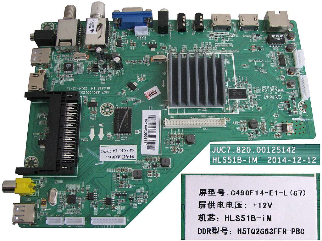 LCD modul základní deska Changhong LED49D1100ISX / Main board C490F14-E1-L(G7) / HLS51B-iM