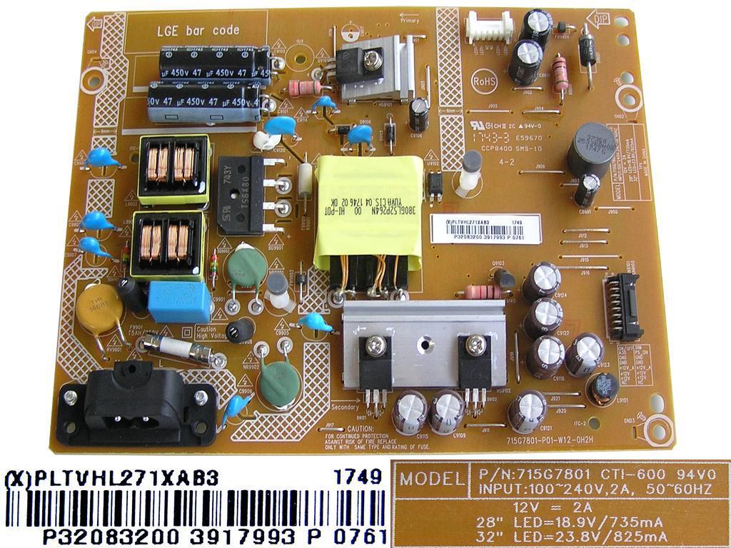 LCD modul zdroj GVC140 BEKO / SMPS 18.5 T5/T6 (PSU+INV) SS1 PAN