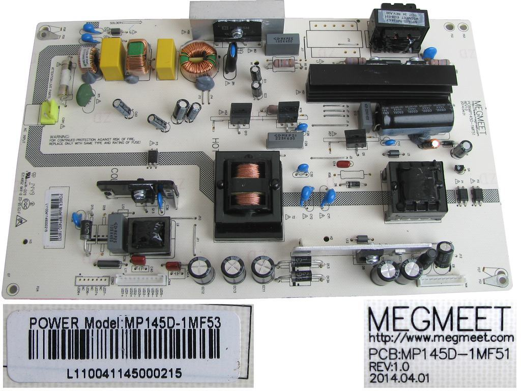 LCD modul zdroj MP145D-1MF53 / SMPS POWER SUPLLY BOARD MP145D1MF53 / MP145D-1MF51
