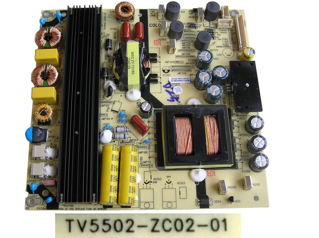 LCD modul zdroj TV5502-ZC02-01 / SMPS BOARD Changhong TV5502ZC0201 / KB-5150