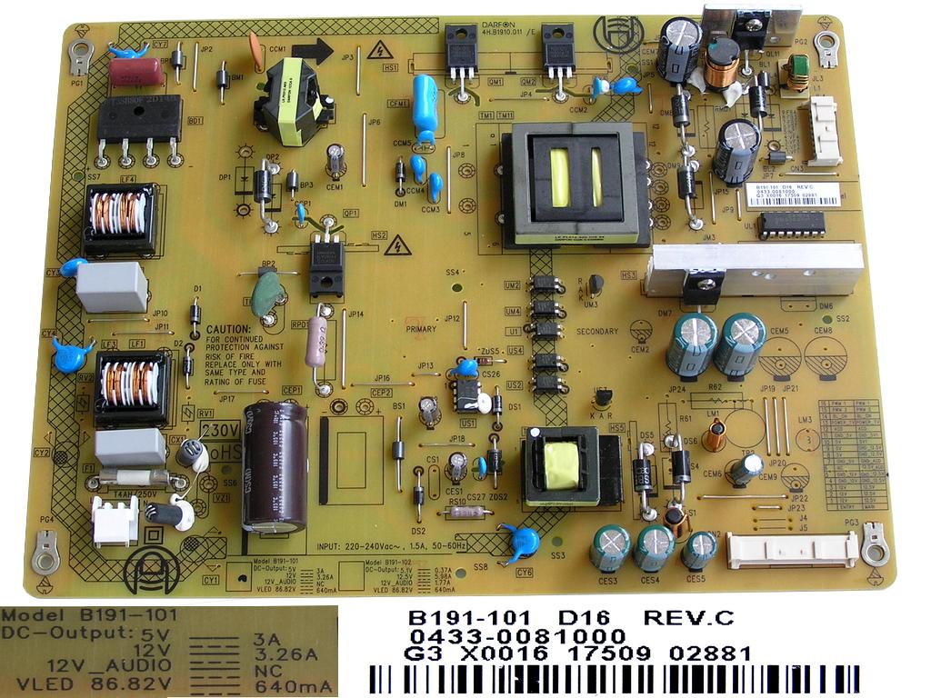LCD modul zdroj VTY194-34 / SMPS unit ZGR Grundig 275990324000