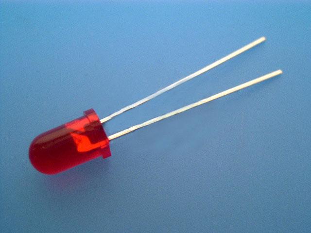 LED dioda červená 5mm, kulatá