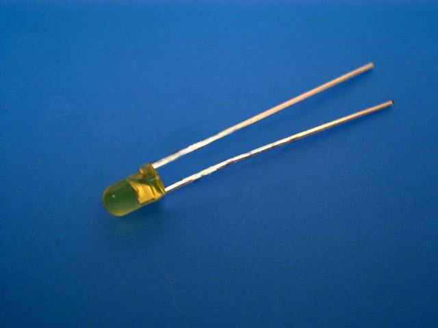 LED dioda žlutá 3mm, kulatá