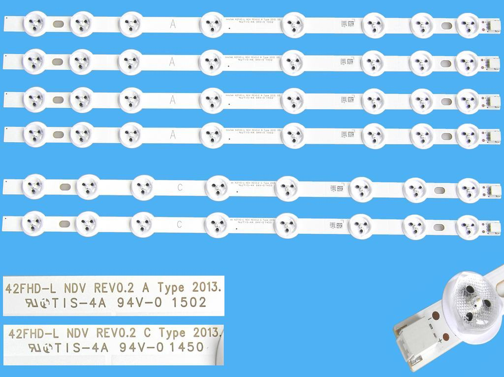 LED podsvit 412mm, 5LED / LED Backlight 412mm - 5 D-LED, 6916L-1412A, L1 type