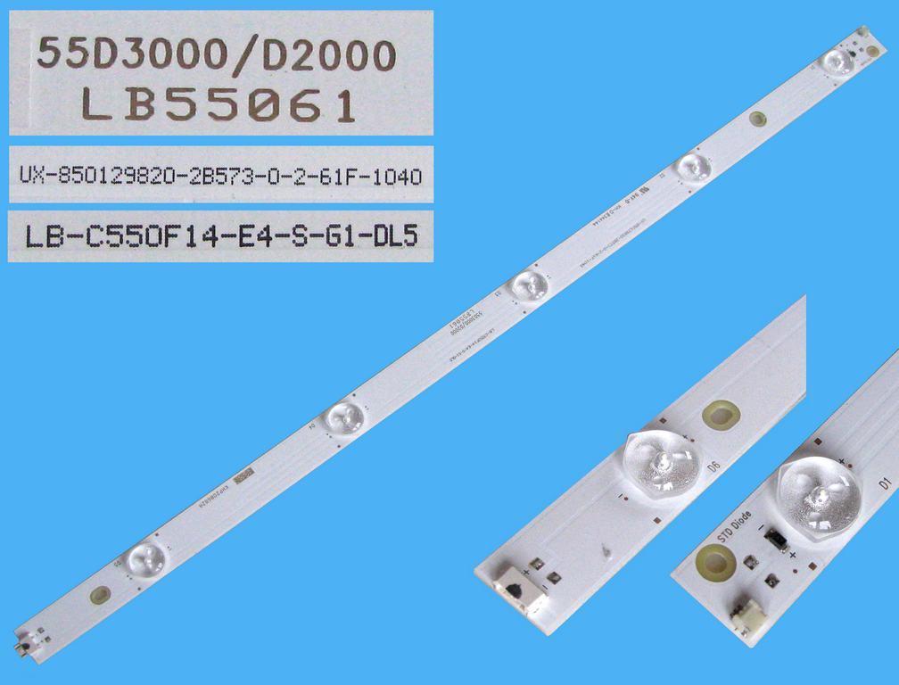 LED podsvit 510mm, 5LED / LED Backlight 510mm - 5 D-LED, LB55061, UX-850129820-2B573