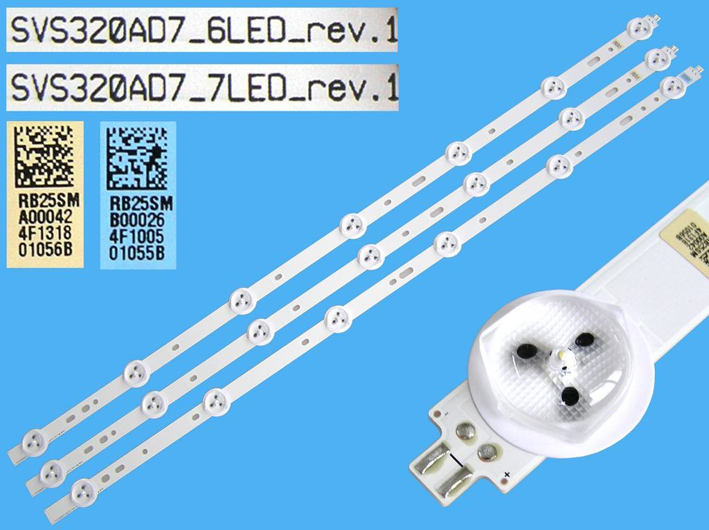 LED podsvit 590mm, 7LED / DLED Backlight 590mm - 7 D-LED, Grundig 759551879800 / ZCL606A / ZCL-A / SVS320AD7