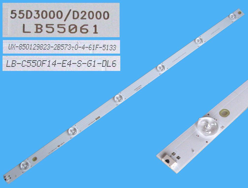 LED podsvit 597mm, 6LED / LED Backlight 597mm - 6 D-LED, LB55061, UX-850129823-2B573