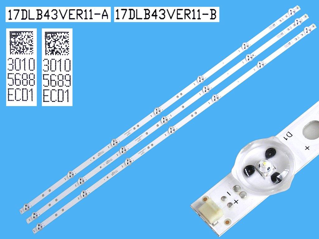 LED podsvit 778mm, 10LED / LED Backlight 778mm - 10 D-LED, RF-AB400E32-1001S-01 / LB-C400F13-E2-C-G2-RF1