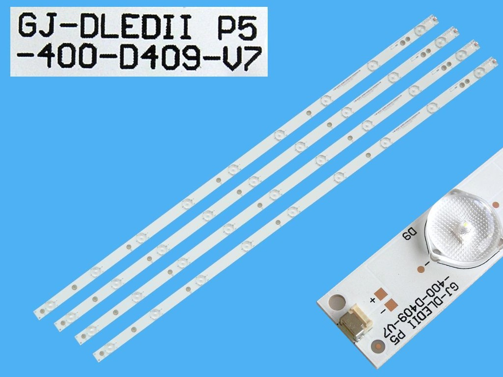 LED podsvit 798mm, 9LED / DLED Backlight 798mm - 9DLED, GJ-DLEDII P5-400-D409-V7, 11800676-A0