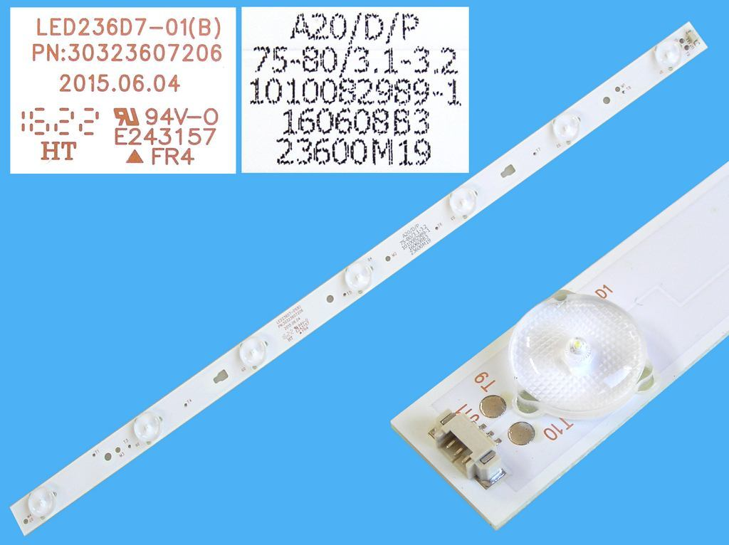 LED podsvit sada LG 6916L-1414A + 6916L-1415A L2+R2 / LED Backlight 823mm - 10 DLED