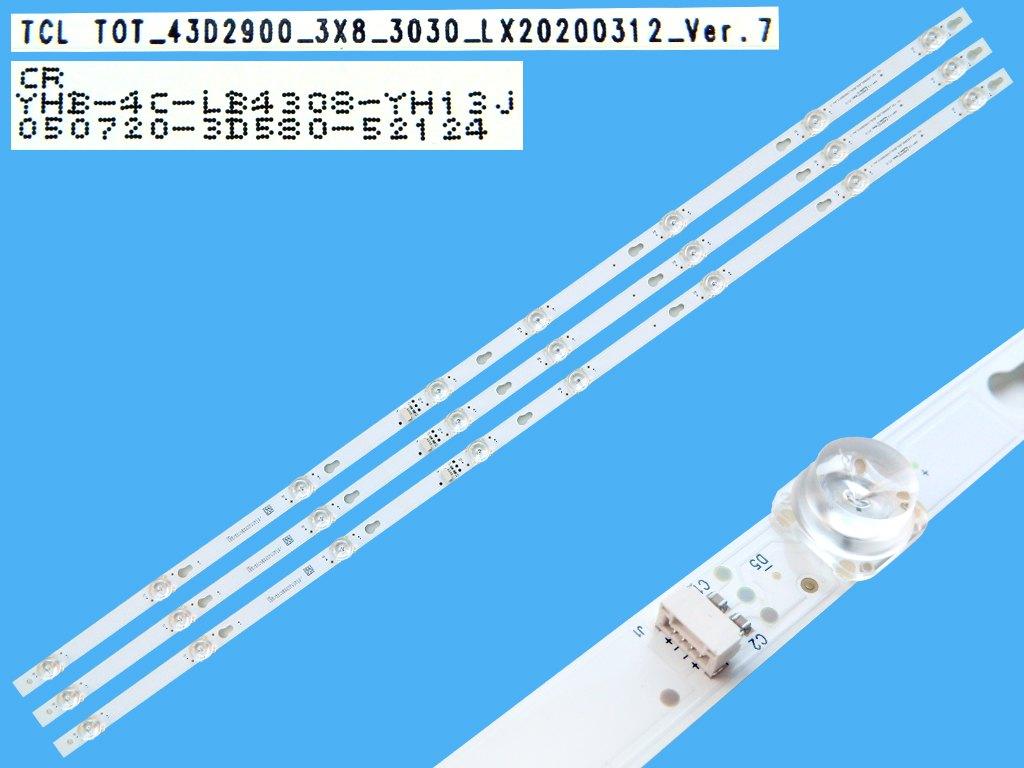 LED podsvit sada LG 6916L-1568A + 6916L-1569A L2+R2 / LED Backlight 940mm - 9 D-LED