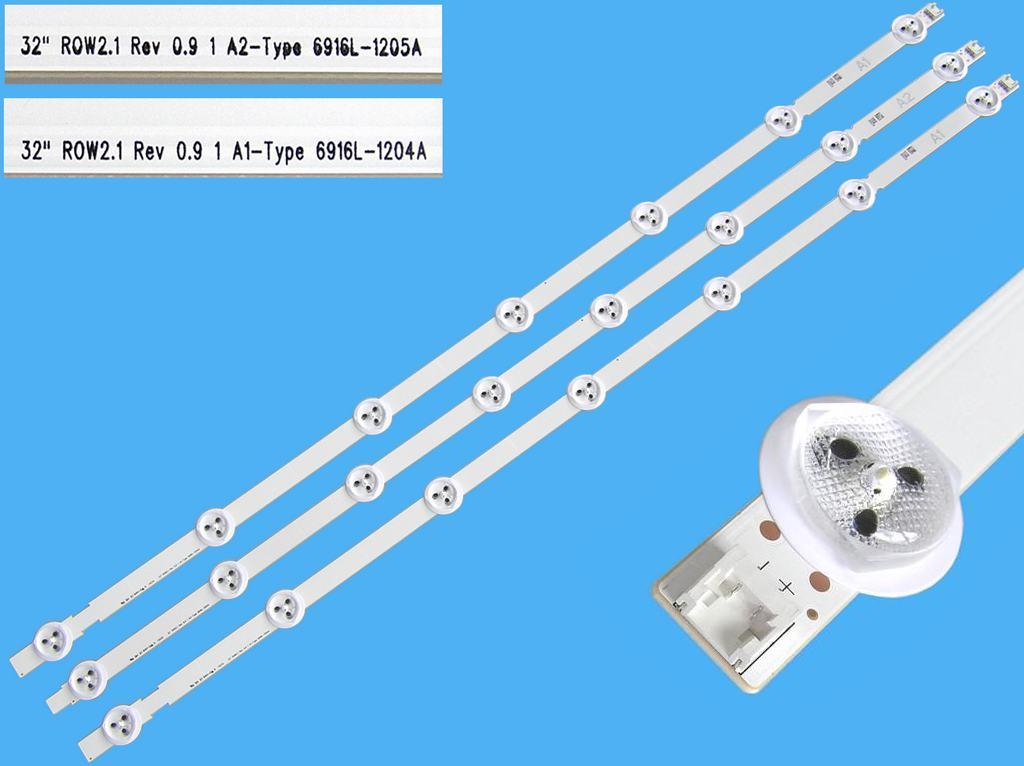 LED podsvit sada LG AGF78399301 celkem 3 pásky 630mm / DLED TOTAL ARRAY AGF78399301 / 6916L-1204A + 6916L-1205A