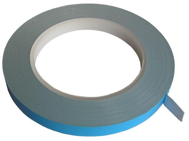 Lepící páska silikonová teplovodivá samolepící oboustranná, šíře 8mm, síla 0,2mm, návin 25m