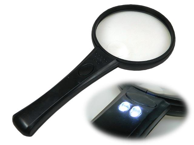 Lupa ruční s osvětlením LED