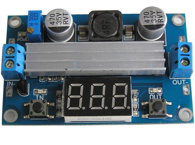 Modul nastavitelného zdroje STEP-UP 5 - 32V / 6 - 35V / 100W max.3A univerzální použití, včetně měření napětí LED displej