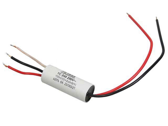 Odrušovací kondenzátor TC240 oboustranné vývody - průchodový