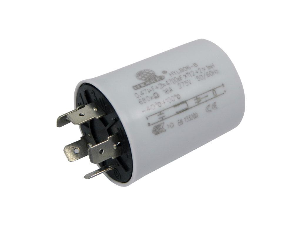 Odrušovací kondenzátor průchodový + filtr 250V / 16A, jednostranné vývody