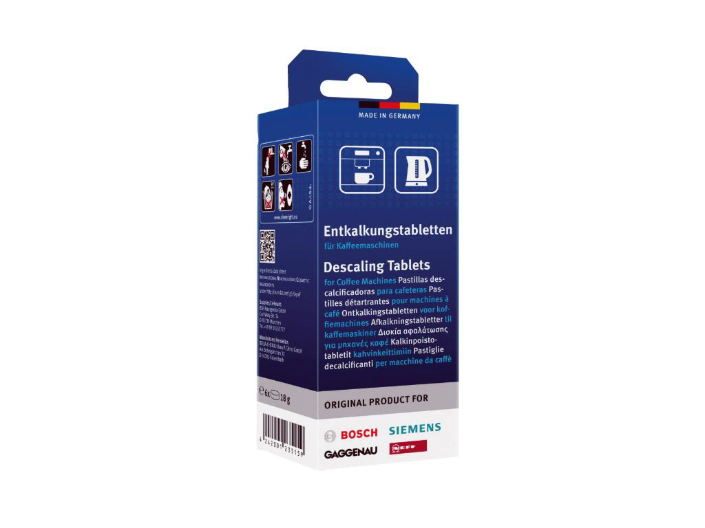 Odvápňovací čistící tablety pro odstranění vodního kamene 00311556 Bosch / Siemens SIEMENS / BOSCH