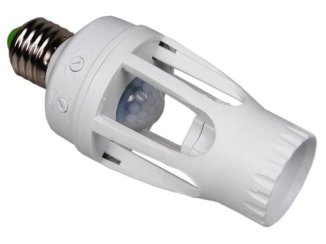 PIR senzor - objímka 360 stupňů Lamp Holder URZ3149 závit E27
