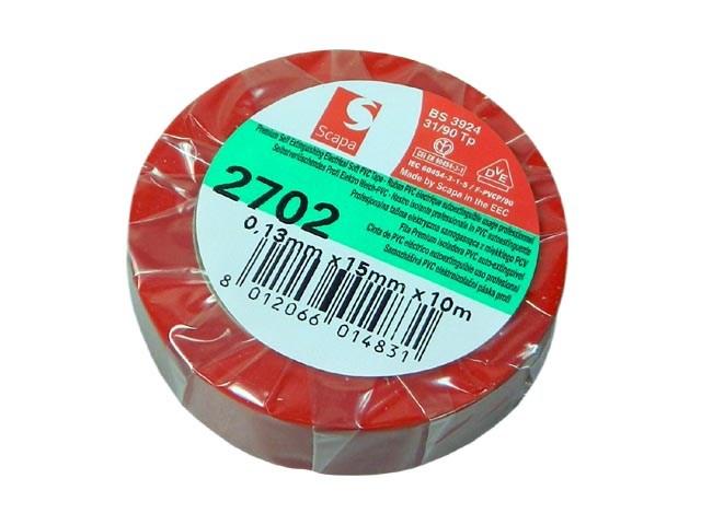 Páska SCAPA2702-15 izolační červená (rudá) šířka 15mm