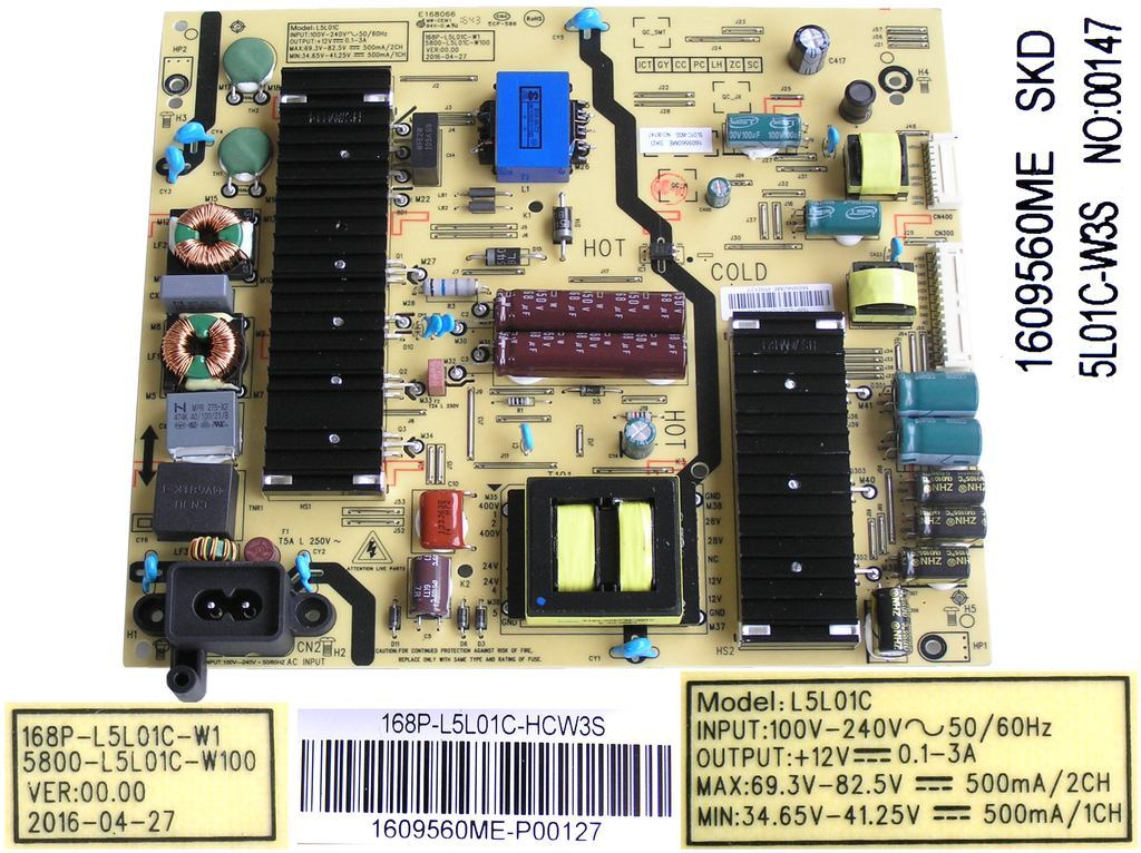 Plazma modul CTRL LJ92-01643A / CTRL BOARD LJ9201643A