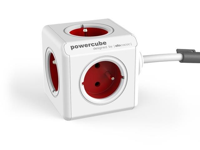 PowerCube Extended - designový prodlužovací síťový kabel 5x zásuvka každá otočená o 90°, délka 1,5m