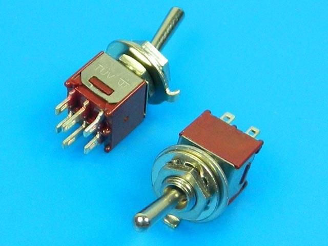 Přepínač páčkový - 3 polohy ON-OFF-ON TSSM2032A1