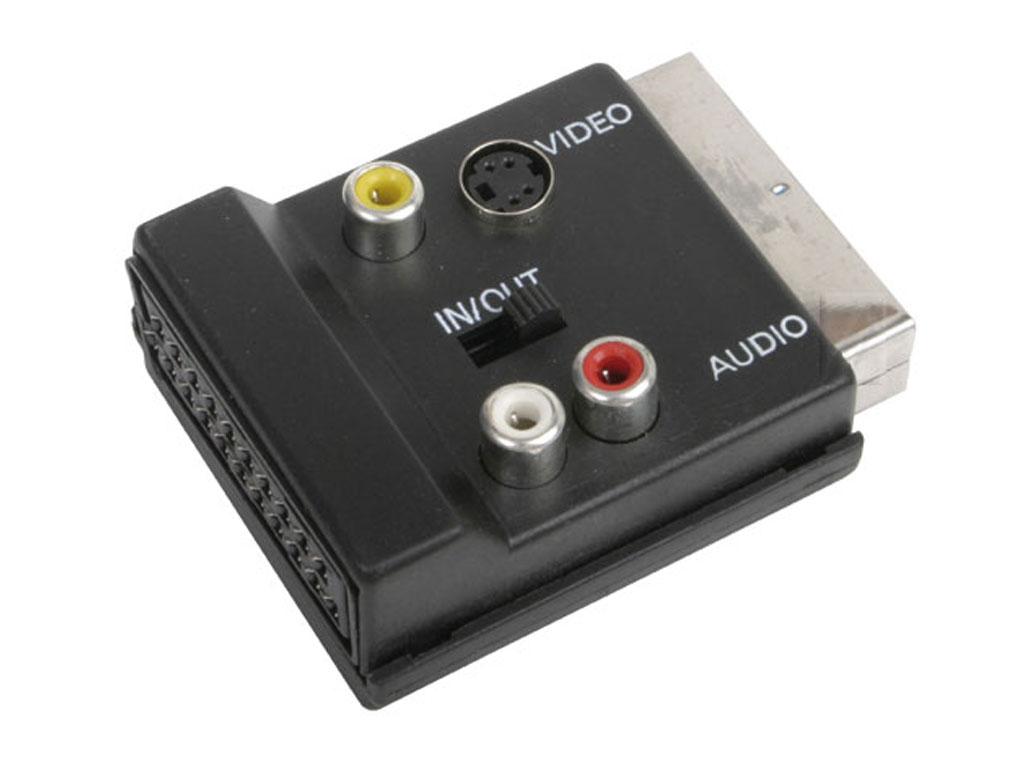 Redukce SCART / SCART / 3xCINCH + S-VHS