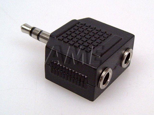 Redukce konektoru jack 3.5mm / 2xjack 3.5mm