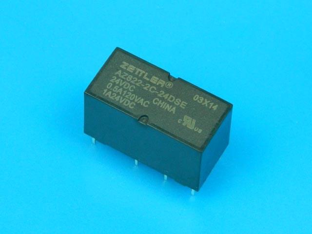 Relé 24V 2 x 230V / 2A ZETTLER AZ822-2C-24DSE