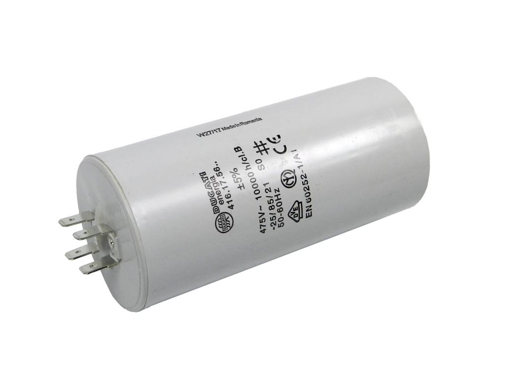Rozběhový kondenzátor 10uF 400V / 450V TC886DS, motorový kondenzátor