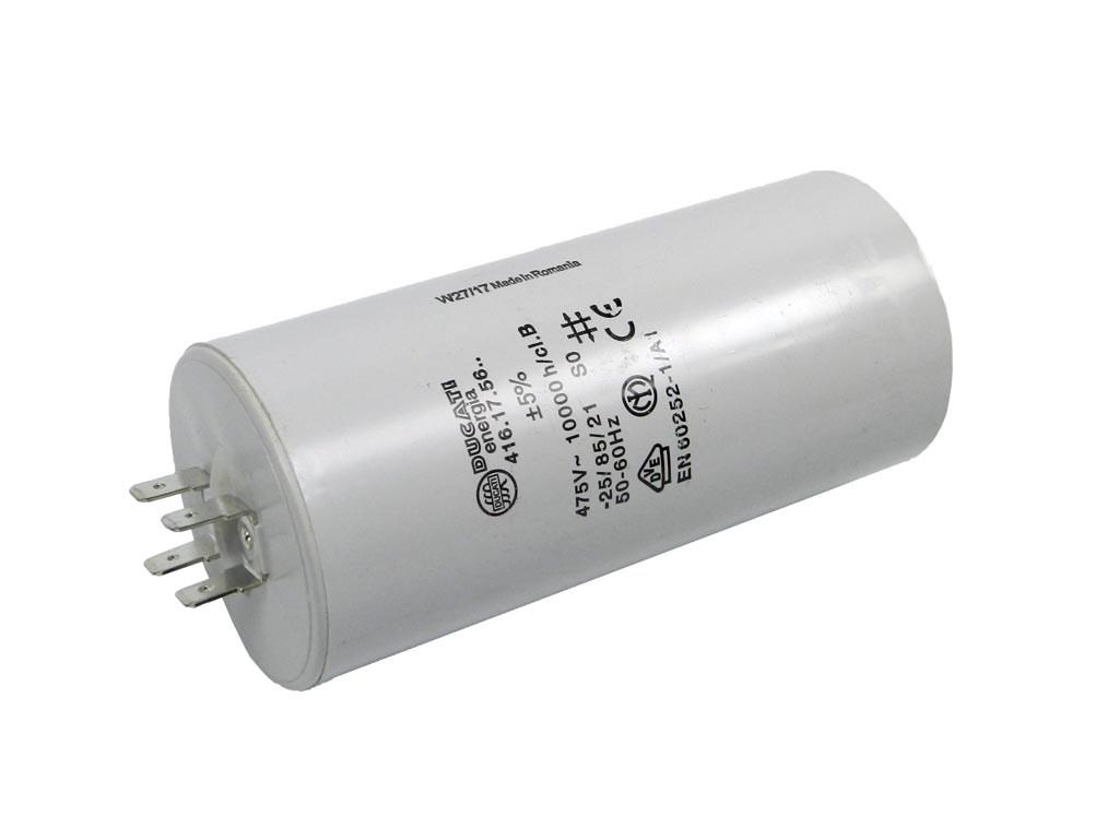 Rozběhový kondenzátor 12.5uF 400V / 450V TC886DS, motorový kondenzátor