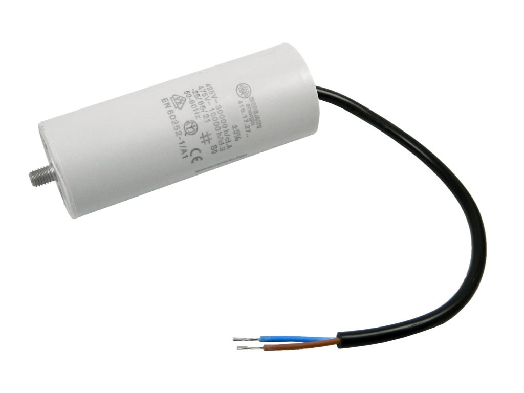 Rozběhový kondenzátor 4uF 400V / 450V TC886HS na kabel, motorový kondenzátor
