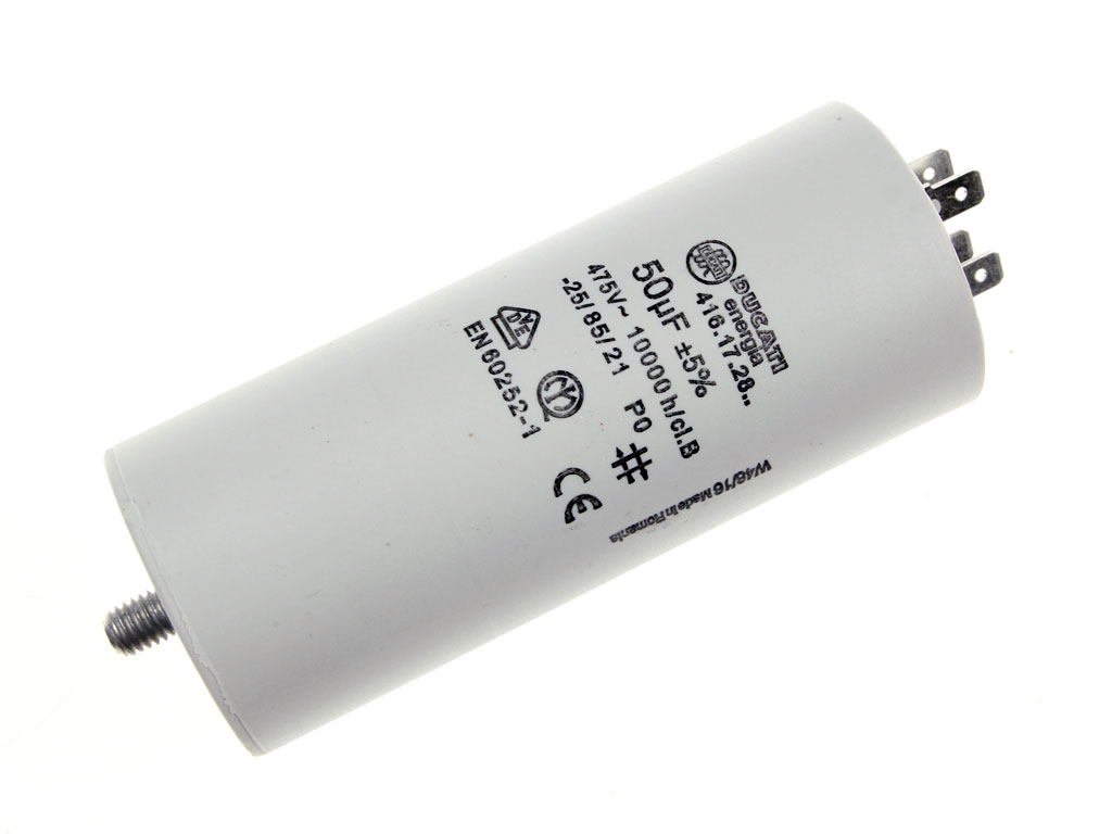 Rozběhový kondenzátor 50uF 400V / 450V TC886DS, motorový kondenzátor