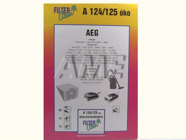 Sáčky do vysavače AEG - A124-OKO / 125-OKO