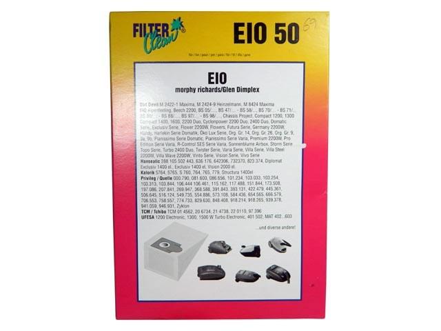 Sáčky do vysavače EIO 50 pro Morhpy Richards / Glen Dimplex, Dirt Devil
